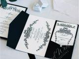 Black Tie On Wedding Invitation Black Tie Wedding Invitation Card