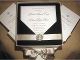 Black Tie On Wedding Invitation Elegant Wedding Invitations with Crystals Black Tie
