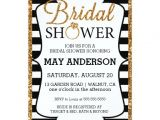 Black White and Gold Bridal Shower Invitations Black&white Gold Glitter Bridal Shower Invitation