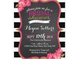 Black White and Gold Bridal Shower Invitations Pink Gold Black White Bridal Shower Invitation
