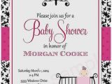 Black White and Pink Baby Shower Invitations Baby Shower Invitation Best Red Black and White Baby
