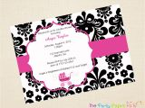 Black White and Pink Baby Shower Invitations Black and Pink Baby Shower Invitations Yourweek