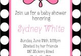 Black White and Pink Baby Shower Invitations Oh Girl Baby Shower Black White Polka Dots Pink