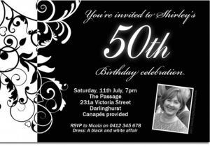Black White Party Invitation Wording Black and White Birthday Party Invitations Dolanpedia