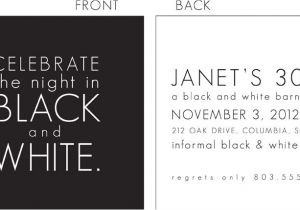 Black White Party Invitation Wording Black and White Party Invitation