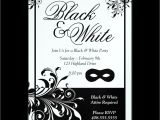 Black White Party Invitation Wording Black and White Party Invitations Oxsvitation Com