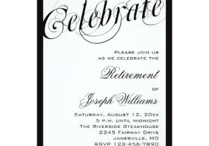 Black White Party Invitation Wording Elegant Black White Retirement Party Invitations
