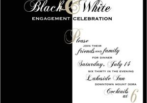 Black White Party Invitation Wording Party Invitations Black and White Dinner at Minted Com