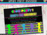 Blackout Birthday Party Invitations Dance Party Invites April Onthemarch