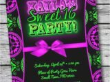 Blackout Party Invitations Templates 95 Neon Sweet 16 Party Ideas Your Baby Girl Has Grown