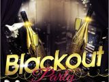 Blackout Party Invitations Templates Flyer Psd Template Blackout Party Cover Gfx
