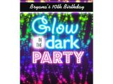 Blackout Party Invitations Templates Glow In the Dark Neon Party Invitations Rainbow