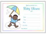 Blank Baby Boy Shower Invites Baby Shower Fill In Invitations