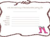 Blank Bachelorette Party Invitations Creative Bachelorette Party Invites