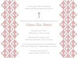 Blank Baptism Invitation Cards Baptism Invitation Template Baptism Invitation Blank
