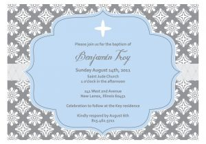 Blank Baptism Invitation Cards Christening Invitation Blank Template
