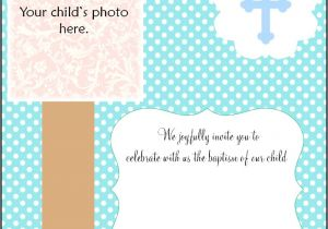 Blank Baptism Invitation Cards Free Christening Invitation Cards