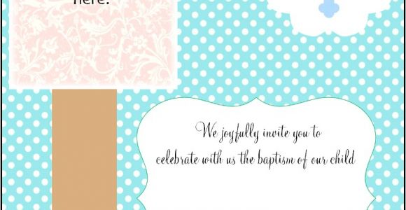Blank Baptism Invitation Cards Free Christening Invitation Cards