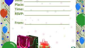 Blank Birthday Invitation Card Template 52 Birthday Invitation Templates Psd Ai Free