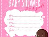 Blank Girl Baby Shower Invites 30 Baby Shower Invitations Printable Psd Ai Vector