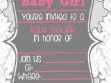 Blank Girl Baby Shower Invites Blank Baby Shower Invitations