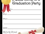Blank Graduation Invitation Cards Free Printable Graduation Party Invitations High School