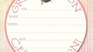 Blank Graduation Party Invitations Templates 40 Free Graduation Invitation Templates Template Lab