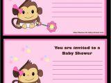 Blank Monkey Baby Shower Invitations 5 Free Printable Monkey Baby Shower Invitations