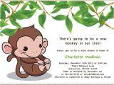 Blank Monkey Baby Shower Invitations Items Similar to Baby Shower Invitation Printable Baby