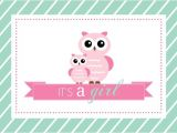 Blank Owl Baby Shower Invitations Mint and Pink Owls Girl Baby Shower Fill In the Blank