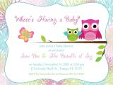 Blank Owl Baby Shower Invitations Owl Baby Shower Invitation by Designsbyoccasion On Etsy