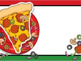 Blank Pizza Party Invitation Template Big Slice Of Pizza Wigglers Party Invitation Blank