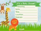 Blank Safari Baby Shower Invitations Baby Shower Invitation Jungle theme