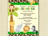 Blank Safari Baby Shower Invitations Innovative Safari Baby Shower Blank Invitations at