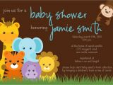 Blank Safari Baby Shower Invitations Jungle theme Baby Shower Invitation