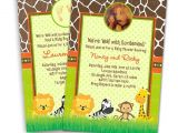 Blank Safari Baby Shower Invitations Safari Baby Shower Invitations & Blank Thank You Card to Match