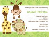 Blank Safari Baby Shower Invitations theme Blank Baby Shower Invitations Jungle