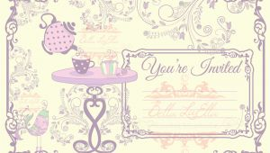 Blank Tea Party Invitation Template Tea Party Invitation Blank Downloadable