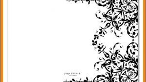 Blank Wedding Invitation Templates Black and White 5 Blank Black and White Wedding Invitation Templates