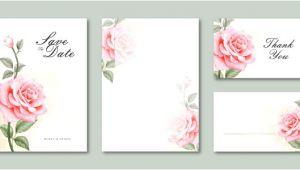 Blank Wedding Invitation Templates Vector Blank Template Wedding Card Invitation Set Watercolor