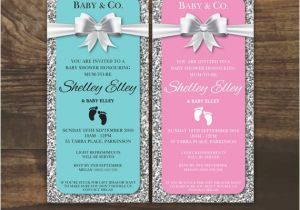 Bling Baby Shower Invitations Baby & Co Baby Shower Invitation Glitter and Bling Baby