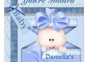 Bling Baby Shower Invitations Bling & Adorable Baby Shower Invitation Boy