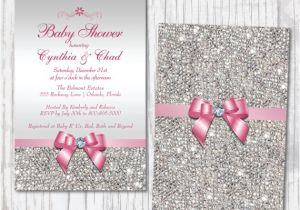 Bling Baby Shower Invitations Bling Baby Shower Invitation Diamond Princess Baby Shower
