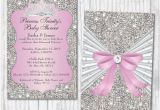 Bling Baby Shower Invitations Bling Baby Shower Invitations Diamond Princess Baby Shower