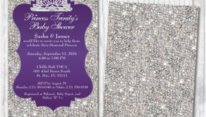 Bling Baby Shower Invitations Bling Baby Shower Invitations Diamond Royalty Princess Baby