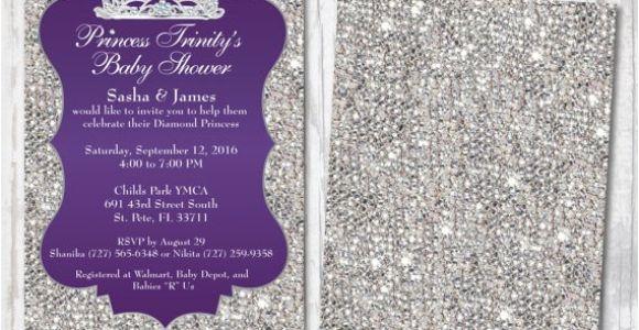 Bling Baby Shower Invitations Bling Baby Shower Invitations Diamond Royalty Princess Baby