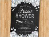 Bling Bridal Shower Invitations Bridal Shower Invitation Bling Glam Glitter Diamond and