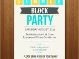 Block Party Invitation Template Customizable Summer Party Invitation Block Pool Bbq Etc
