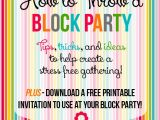 Block Party Invitation Template How to Throw A Block Party A Free Printable Invitation