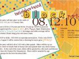 Block Party Invitation Template Invite124 Jpg